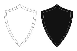 Medieval knight shield. Vector