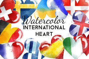 watercolor international heart