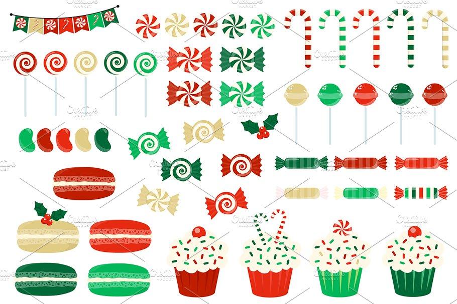 Christmas Candy Clipart.Christmas Candy Clipart Illustrations Creative Market