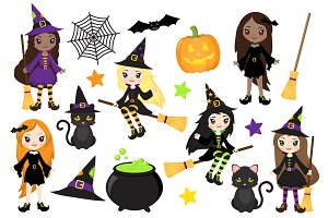 Cute Witch Halloween Clipart