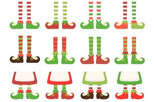 Christmas Elfs Feet Clipart