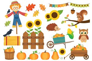 Pumpkin Harvest Fall Clipart