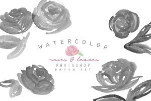 Watercolor Photoshop Brush - Roses