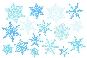 Blue Snowflake Silhouette Clipart