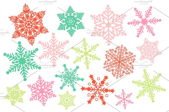 Christmas Snowflake Clipart ~ Illustrations on Creative Market