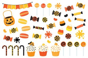 Orange Halloween Candy Clipart
