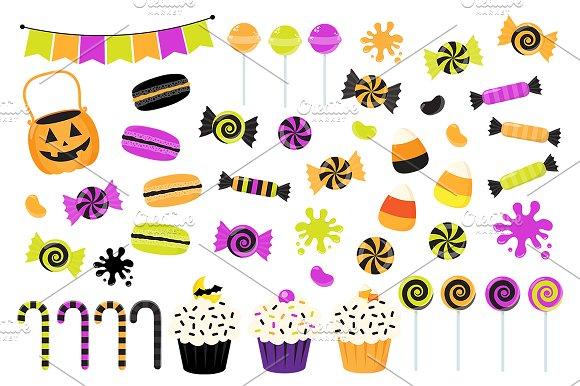Halloween Candy Clipart ~ Illustrations ~ Creative Market