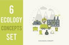 6 Ecologic Concepts Set