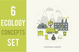 6 Ecologic Concepts Set