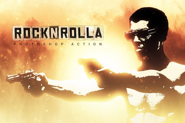 Rock N Rolla Photoshop Action