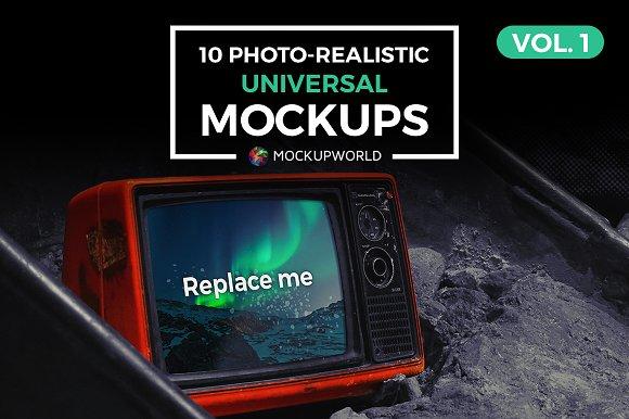 10 Universal Mockups Vol. 1 - Product Mockups