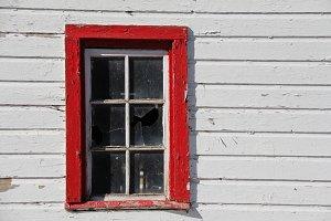 rustic barn window