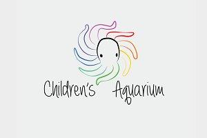 Children's Aquarium Logo Vector