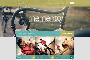 Memento — Retina PSD Template