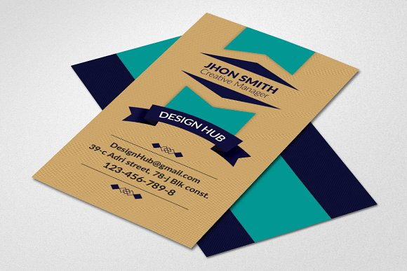 Vertical Retro Business Card