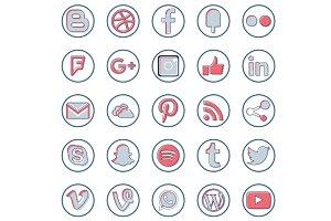 Fresh Social Media Icons
