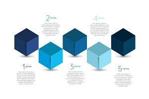 Cube infographic options template