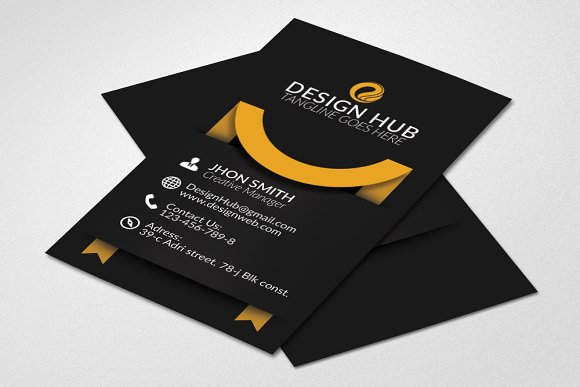 Vertical ribbon Business Card