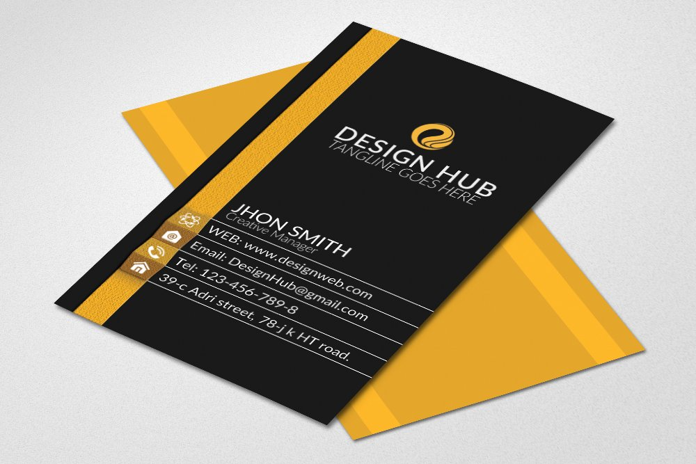 Vertical business card template card templates creative market fbccfo Gallery