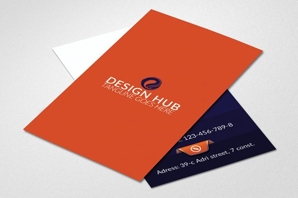 Vertical Business Card Template in Card Templates - product preview 1