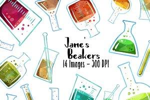 Science Clipart - Beakers