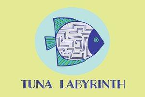 Labyrinth Fish Vector Logo