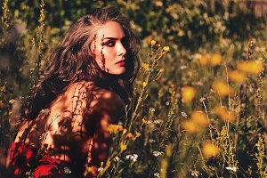 Woman in the garden. #1