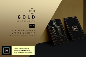 Gold - Business Card 100