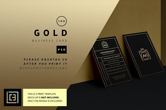 gold business card 100 business cards - 100 Business Cards