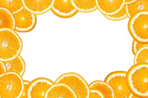 frame of orange slices