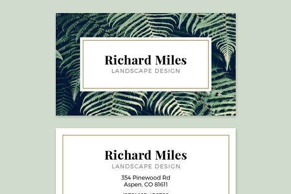 Business Card Template - FLORA