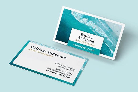 Business card template ocean business card templates creative business card template ocean business card templates creative market reheart Choice Image