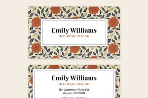 Business Card Template - FLOWERS 01