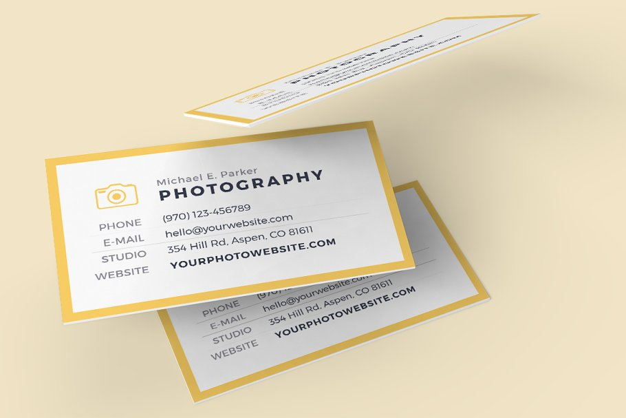 Business Card Template - LEAVES