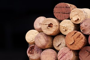 wine corks black background