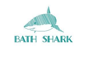 Shark Drawing Logo Vector