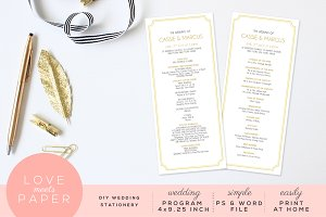 Wedding Program Template P1001