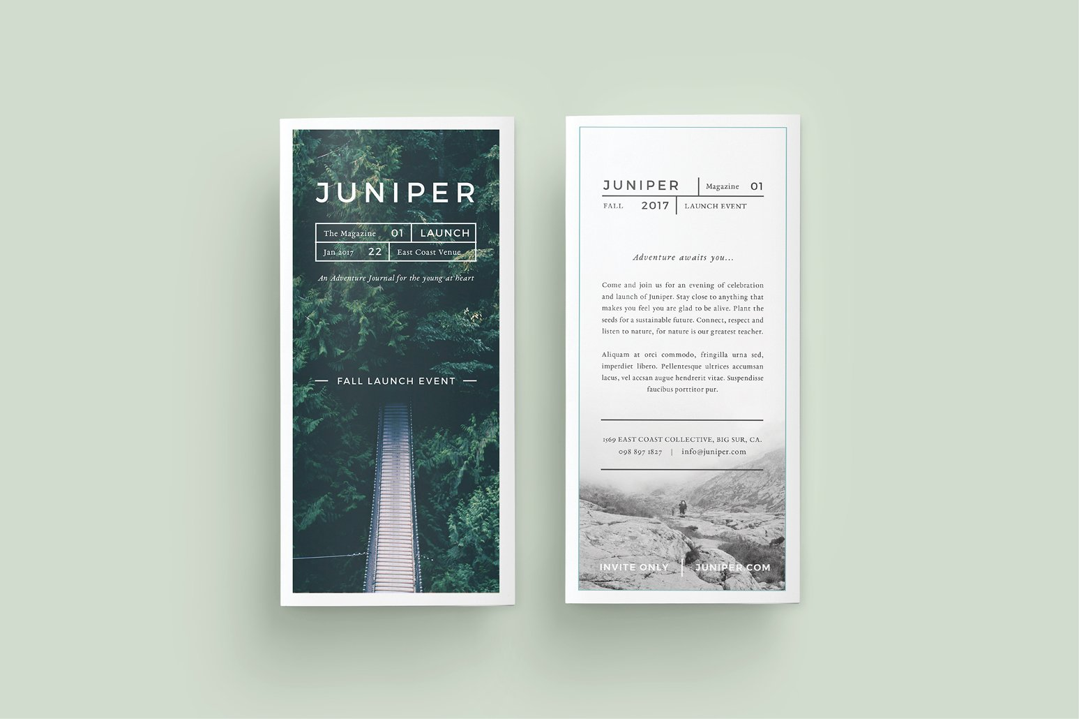 J u n i p e r trifold brochure brochure templates for Template brochures