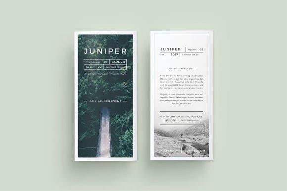 j u n i p e r trifold brochure brochure templates creative market