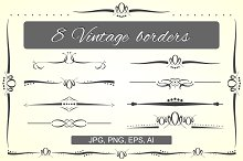 Vintage borders vector set