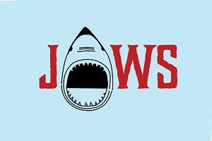 Jaws Shark Logo Drawing Vector