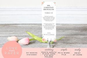 Photo Booth Table Place Card  PC1019