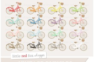 Vintage Bicycle Clipart