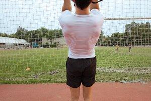 rear view suspension training man