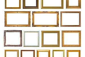 Group of Gold frame Elegant vintage