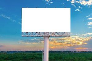 blank billboard for advertisement