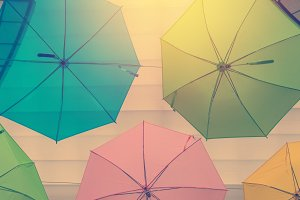 colorful of umbrellas