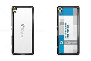 Sony Xperia XA 2d Phone Case Mockup