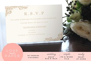 RSVP Wedding Invite R1011