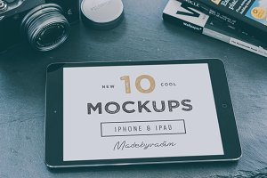 10 Cool iPad & iPhone mockups